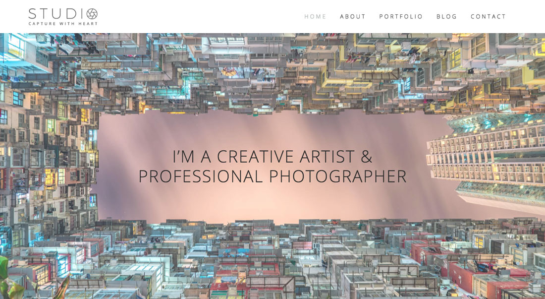 Clean Photography Portfolio Template